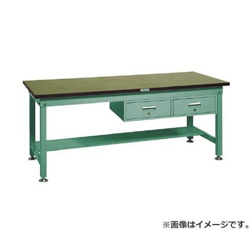 TRUSCO RHW型作業台 1800X900XH740 2列引出付 RHW1809FL2 (GN) [r21][s9-940]
