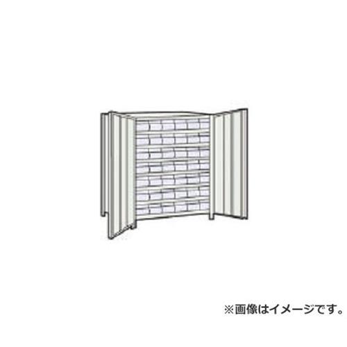 TRUSCO 軽量棚扉付 875X383XH1200 樹脂引出透明 小X42 43VT808C7 (NG)
