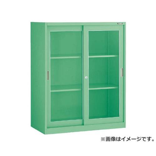TRUSCO MU型保管庫 ガラス引違 900X450XH1110ベース付 MUJ11B [r22]