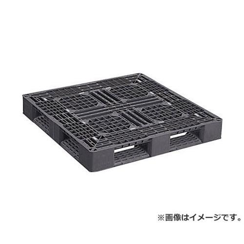NPC プラスチックパレットLA-1111RR 片面四方差し 黒 LA1111RRBK [r20][s9-910]