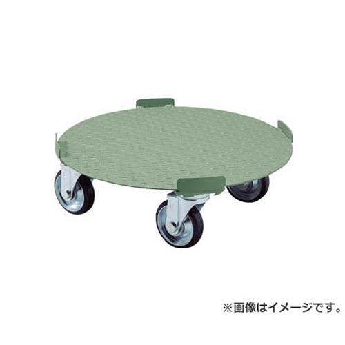 TRUSCO 円形台車 4点ガイド型 荷重300kg 台寸Φ610 RB300 [r20][s9-910]