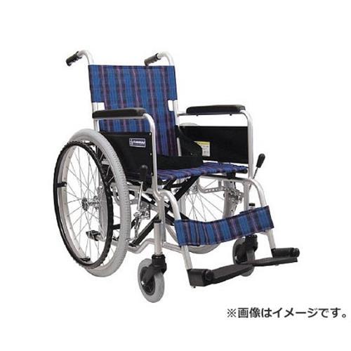 カワムラ 車椅子 座幅40CM シート色紺チェック KA10240A3 [r20][s9-910]