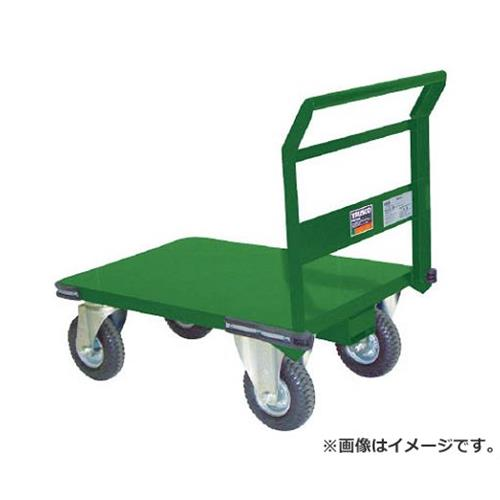 TRUSCO 鋼鉄製運搬車 プレス製空気入タイヤ付 900X600 SH2NAR [r20][s9-930]