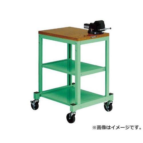 TRUSCO BN型小型作業台 バイス付 450X600 キャスター付 YG色 BN4560ACV8NYG [r22]