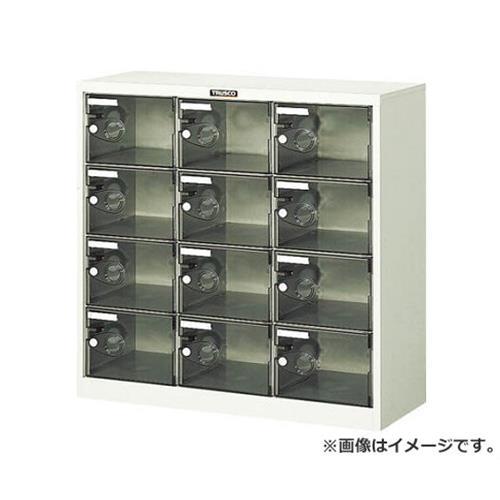TRUSCO シューズケース 12人用 900X380XH880 透明 SC12PC [r20][s9-930]