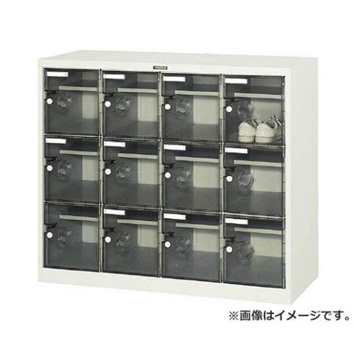 TRUSCO シューズケース 12人用 1050X380XH880 棚付 透明 SC12WPC [r20][s9-910]