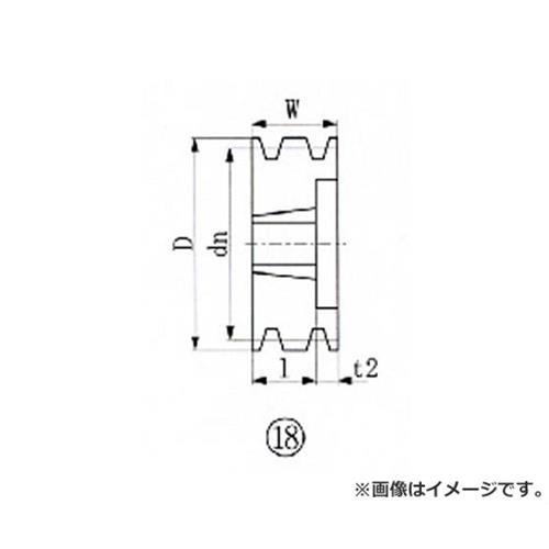 EVN ブッシングプーリー SPA 190mm 溝数3 SPA1903 [r20][s9-820]