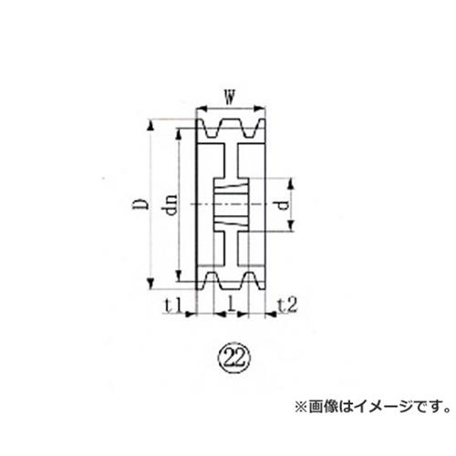 EVN ブッシングプーリー SPA 212mm 溝数3 SPA2123 [r20][s9-900]