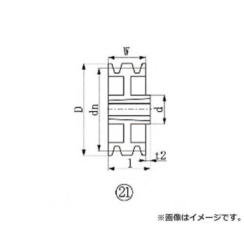 EVN ブッシングプーリー SPA 315mm 溝数3 SPA3153 [r20][s9-910]