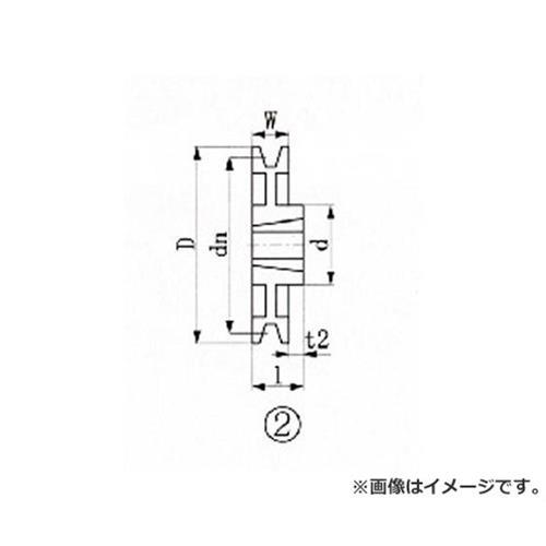 EVN ブッシングプーリー SPB 250mm 溝数1 SPB2501 [r20][s9-900]