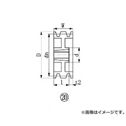 EVN ブッシングプーリー SPB 250mm 溝数3 SPB2503 [r20][s9-910]