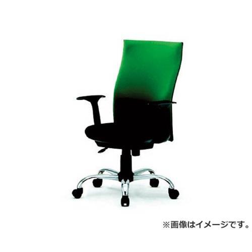TRUSCO ハイバックオフィスチェアー 肘付 グリーン TOFC330A (GN) [r20][s9-920]