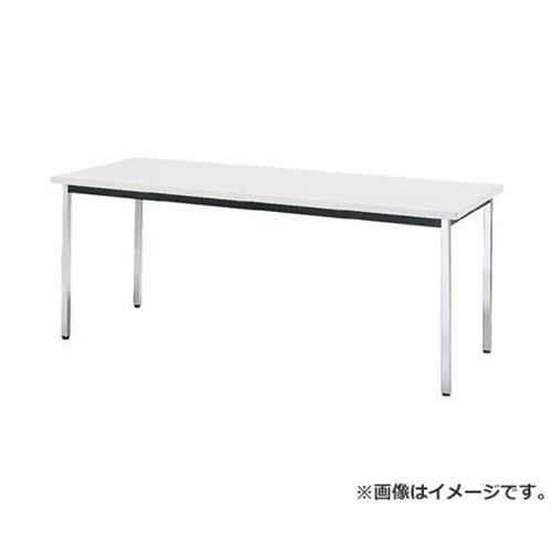 TRUSCO 会議用テーブル 1800X600XH700 角脚 下棚無 ホワイト TD1860W [r20][s9-831]