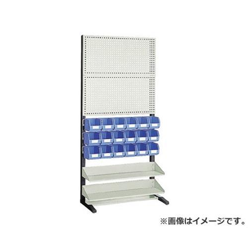 TRUSCO UPR型パンチングラック 棚板・コンテナ付 両面 UPR408N [r20][s9-910]