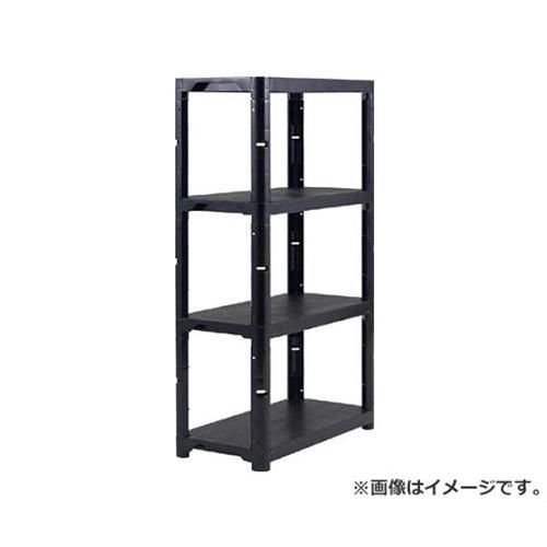 TRUSCO プラ棚 高さ1800-4段タイプ コーナーキャップ4個付 黒 TPT6344CBK [r20][s9-910]