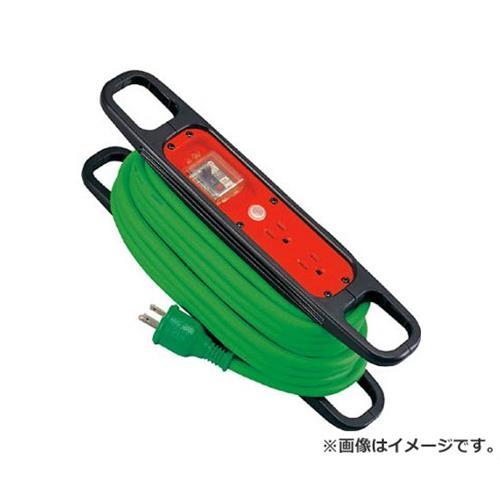 日動 ハンドリール 100V 3芯×10m 緑 アース過負荷漏電しゃ断器付 HREK102G [r20][s9-910]