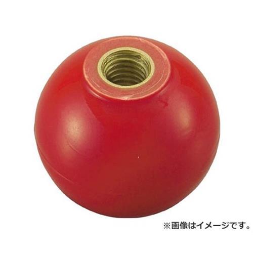 TRUSCO 樹脂製握り玉 金具付赤 40XM12mm TPC4012R 20個入 [r20][s9-910]