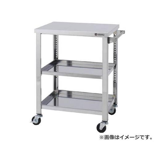 【再入荷】 600×450×800 ステンレスワゴンSGシリーズ [r21][s9-920]:ミナト電機工業 アズマ 3段 WG3600K-DIY・工具