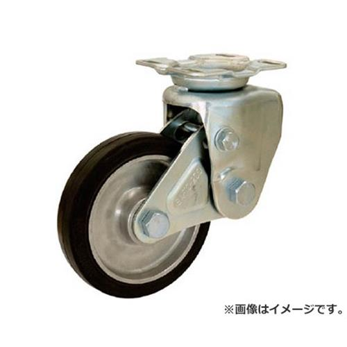 シシク 緩衝キャスター 固定 200径 ゴム車輪 SAKTO200TRAW [r20][s9-910]