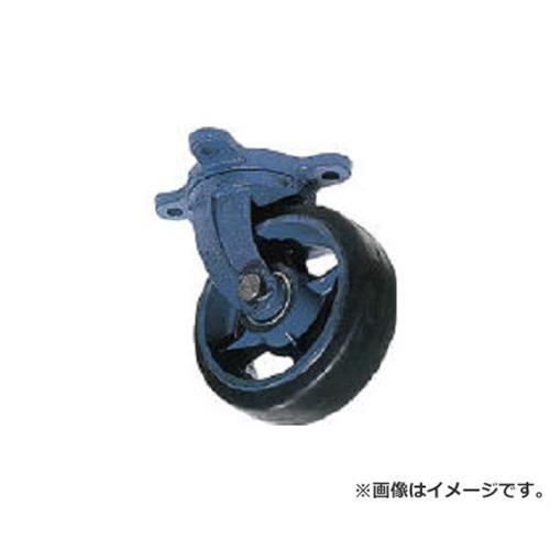 京町 鋳物製自在金具付ゴム車輪(幅広) AHJ300X100 [r22]