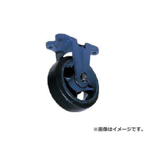 京町 鋳物製金具付ゴム車輪(幅広) AHU250X75 [r22]