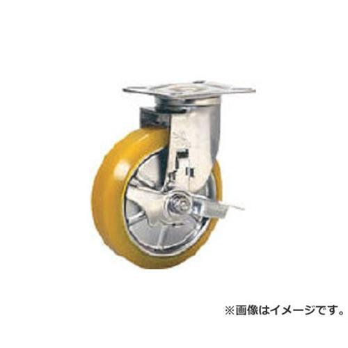 シシク ステンレスキャスター 制電性ウレタン車輪自在ストッパー付 SUNJB125SEUW [r20][s9-910]
