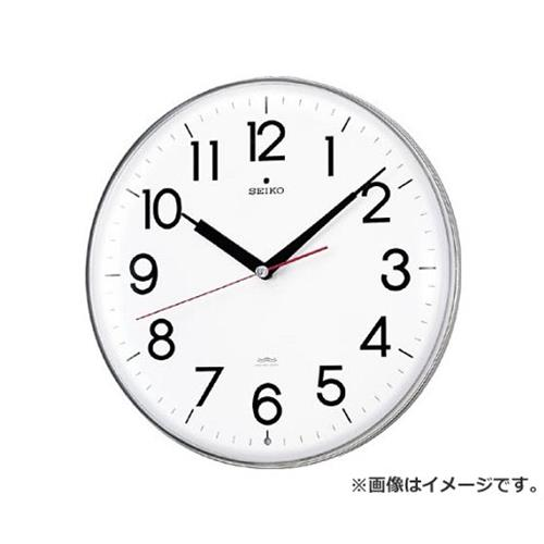 SEIKO アクリルカバー電波掛時計 直径294×47 白 KX301H [r20][s9-830]
