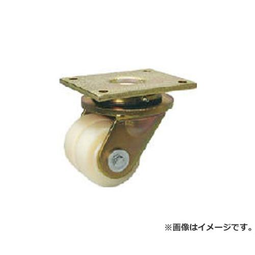 シシク 低床重荷重用双輪キャスター 自在 100径 LSDGSPO100K [r22]