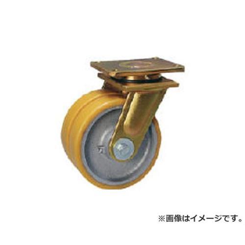 シシク 超重荷重用双輪キャスター 自在 200径 LSDGTH200K35 [r22]