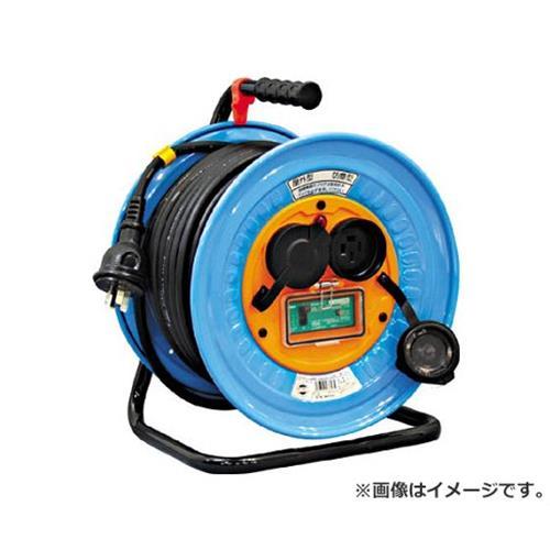 日動 電工ドラム 防雨防塵型三相200V アース漏電しゃ断器付 30m DNWEB33020A [r20][s9-930]