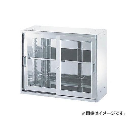 TRUSCO ステンレス保管庫(D400) 枠付ガラス扉 900XH720 STJ47 [r20][s9-910]