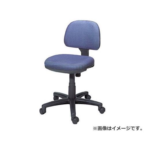 TRUSCO オフィスチェア 布張り 肘無 ブルー FST3 (B)