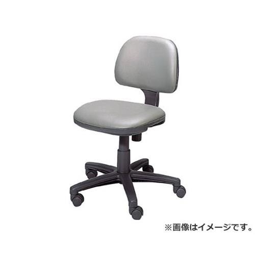 TRUSCO オフィスチェア ビニールレザー張り 肘無 グレー FST3L (GY) [r20][s9-910]