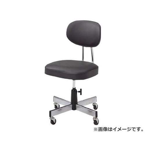 TRUSCO 事務椅子 ビニールレザー張り ブラック L2095