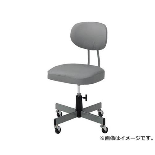 TRUSCO 事務椅子 ビニールレザー張り グレー T80