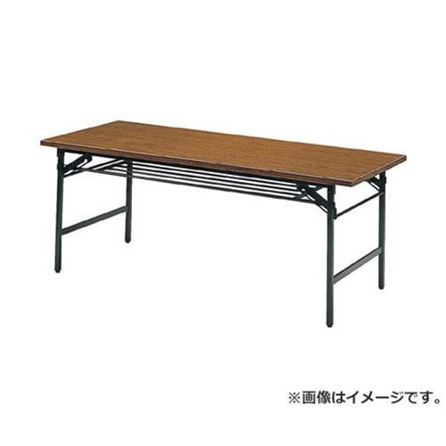TRUSCO 折りたたみ会議テーブル 1800X750XH700 チーク 1875 [r20][s9-831]