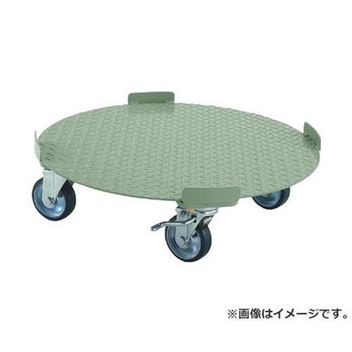 TRUSCO 円形台車 4点ガイド型 荷重500kg 台寸Φ610 S付 RB500S [r20][s9-920]