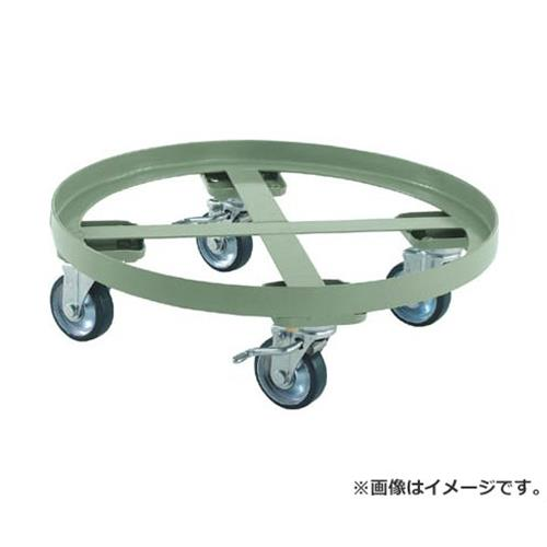 TRUSCO 円形台車 全周ガイド型 荷重500kg 台寸Φ610 S付 RC500S [r20][s9-920]