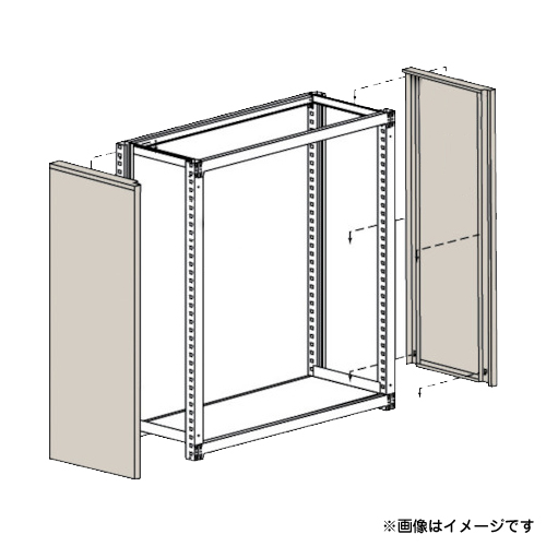 TRUSCO M3・M5型棚用はめ込み式側板 600XH1800 GMM66 (NG) [r20][s9-910]