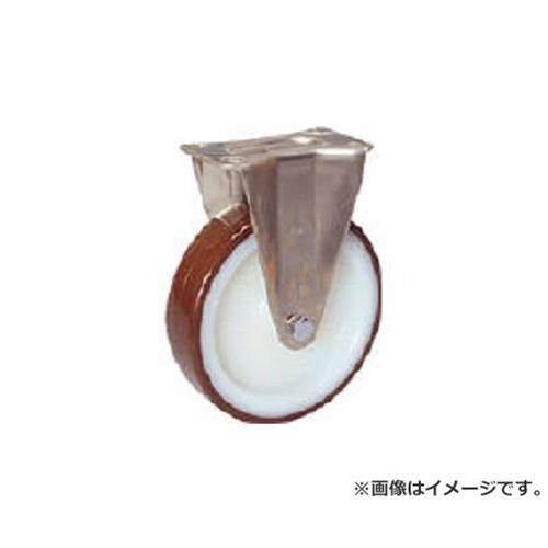 シシク ステンレスキャスター ウレタン車輪付固定 SUNK200POTH [r20][s9-830]