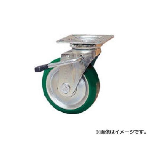 シシク スタンダードプレスキャスター ウレタン車輪 自在ストッパー付 250径 UWJB250 [r20][s9-910]