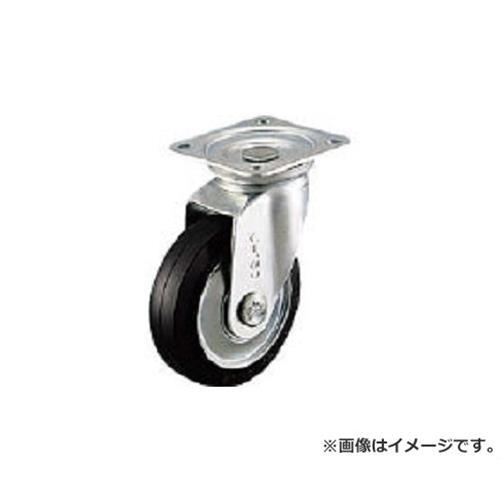 シシク プレス製 ゴム車自在 300mm WJ300 [r20][s9-910]