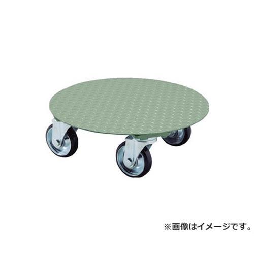 TRUSCO 円形台車 上置型 荷重500kg 台寸Φ552 RA500 [r20][s9-910]