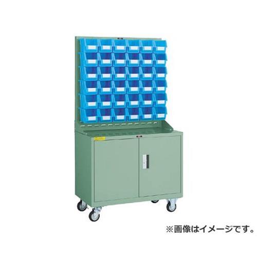 TRUSCO パネルコンテナラック 移動式保管庫付 コンテナ中X36 HT0936NC [r20][s9-910]