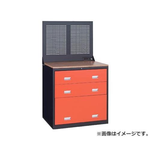 TRUSCO TWK型キャビネット 900X650 3段 Pパネル付 黒 TWK903SP [r22]