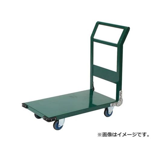 TRUSCO 鋼鉄製運搬車 900X600 Φ150エアキャスター 緑 SH2NAC (GN) [r20][s9-920]