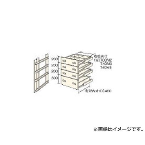 TRUSCO M2型棚用引出し 浅型3段+深型1段セット HM29004 [r22]