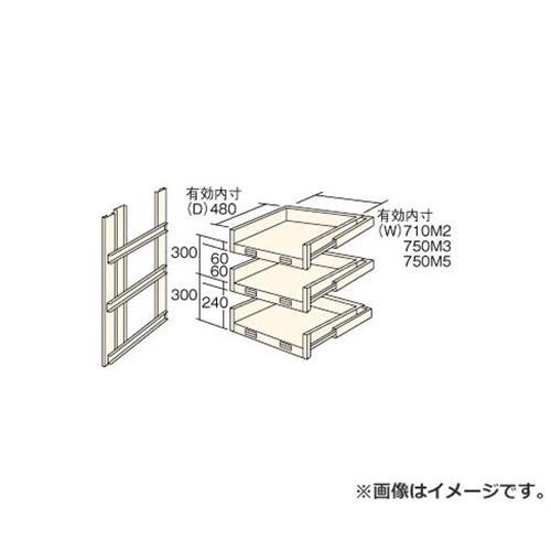 TRUSCO M2型棚用スライド棚 3段セット HTM29003 [r22]
