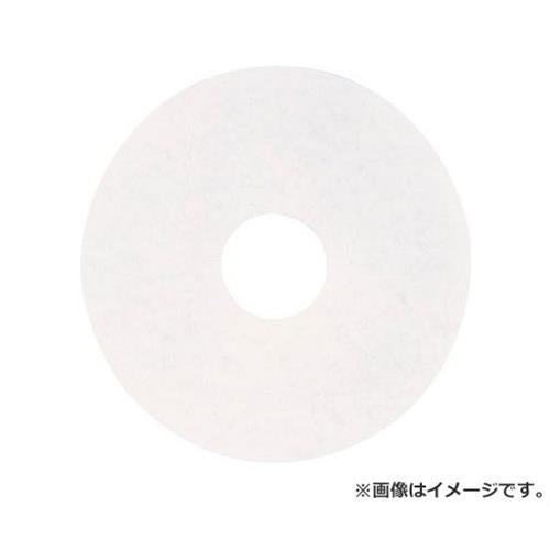 アマノ フロアパッド15 白 HEQ911100 ×5枚セット