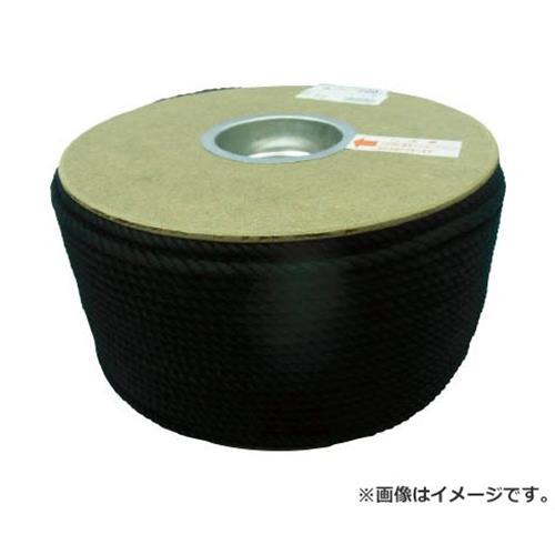 ユタカ ポリエステルロープ ドラム巻 5φ×200m 黒 PRS91 [r20][s9-910]